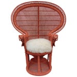 Image of Vintage Peacock Chair With Cushion