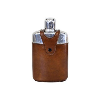 Glass and Chrome Flask in Holder