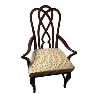 Vintage Upholstered Mahogany Chair