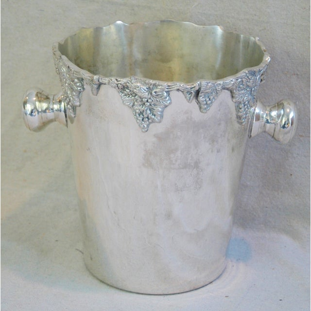 Image of Silver-Plate Champagne Bucket with Grape Motif