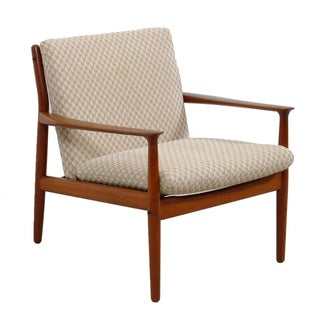 Glostrop Grete Jalk Danish Teak Easy Chair