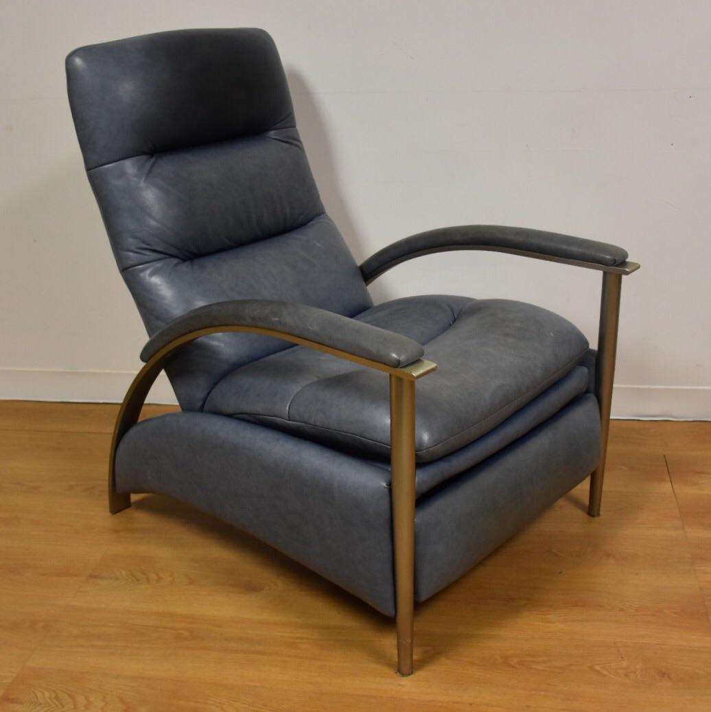 Ethan Allen Modern Leather Recliner - Image 2 of 10 & Ethan Allen Modern Leather Recliner | Chairish islam-shia.org