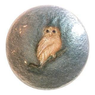 Ando Japanese Cloisonné Owl Plate