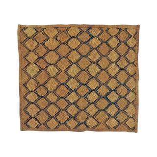 Hand Woven Kuba Cloth Mat - 1′5″ × 1′6″
