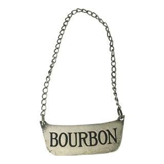 """Sterling """"Bourbon"""" Decanter Label"""