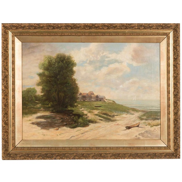 19th-Century Sea Shore Landscape - Image 1 of 10