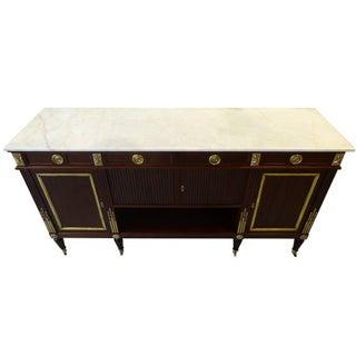 Jansen French Louis XVI Style Mahogany Sideboard