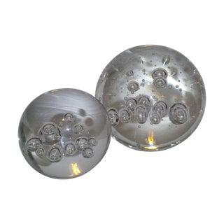 Swedish Crystal Globes - Pair