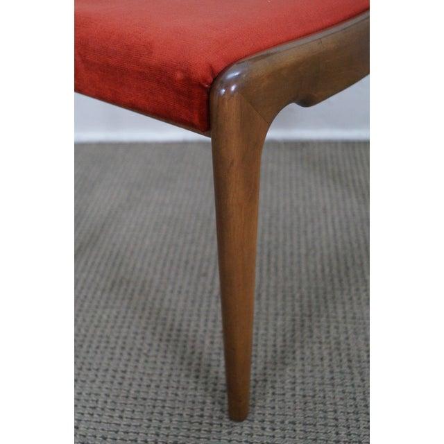 Italian Walnut Midcentury Modern Dining Chairs - 6 - Image 7 of 10