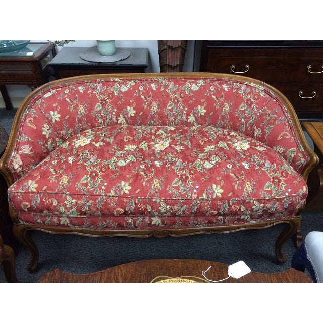 1800's Down-Cushion Settees with Maple Frame - Two - Image 3 of 5