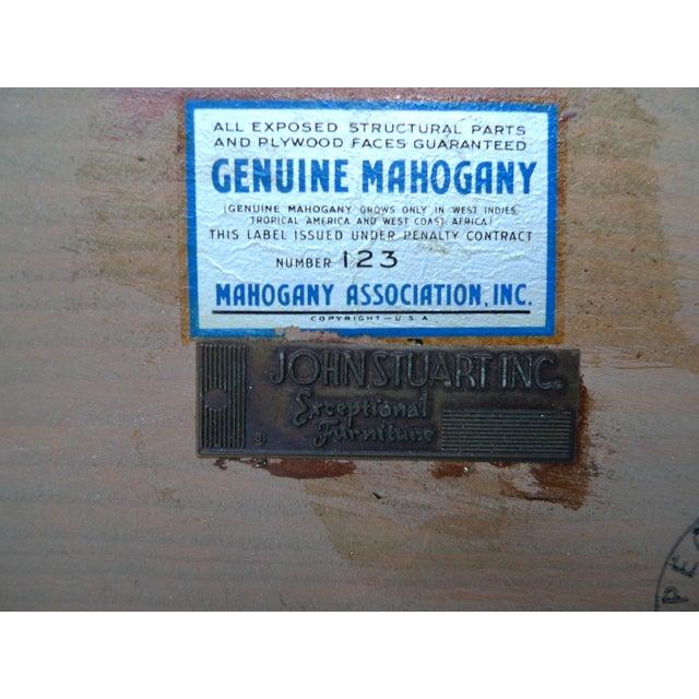 Image of John Stuart 1940s Mahogany Sidetables - A Pair