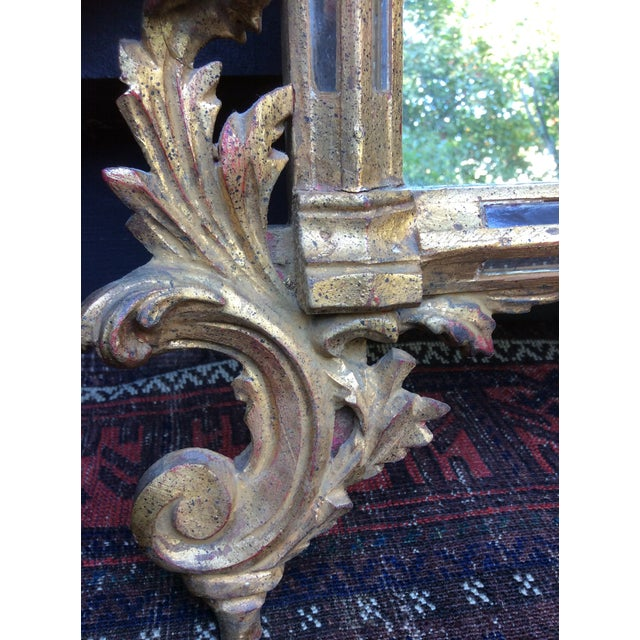 Antique Italian Gilt Carved Gold Mirror - Image 5 of 11