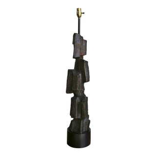 Sculptural Brutalist Table Lamp by Laurel