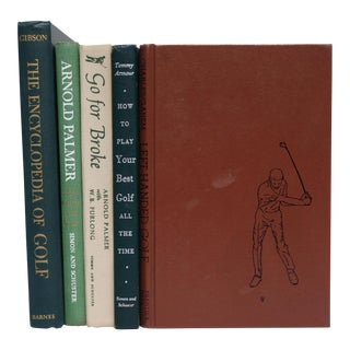 Vintage Golfing Books - Set of 5