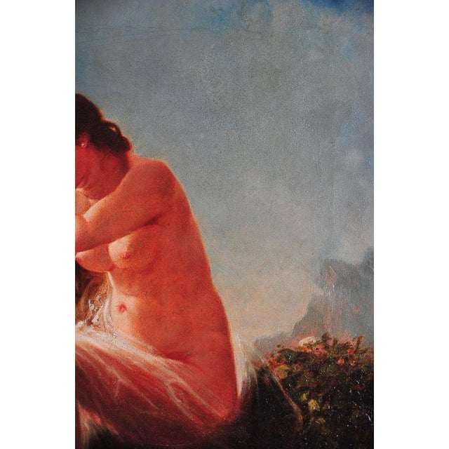 """""""Siren Looking at Sea"""" - 19th Century Oil Painting - Image 7 of 9"""