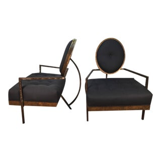 French Modern Club Chairs - a Pair