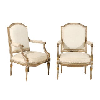 Pair of 19th Century French Louis XVI Style Fauteuils