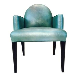 Donghia Original Iridescent Leather Luna Accent Chair