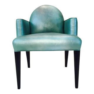 Donghia Original Iridescent Leather Luna Accent Chair