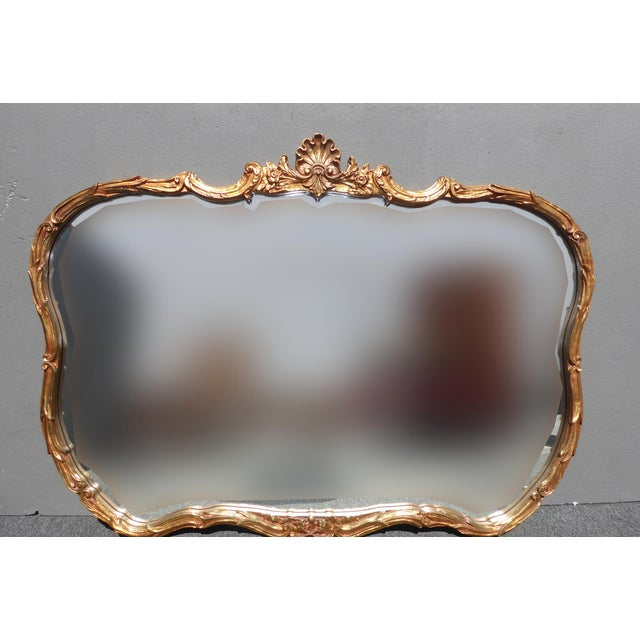 Vintage French Louis XVI Style Wall Mirror - Image 2 of 11