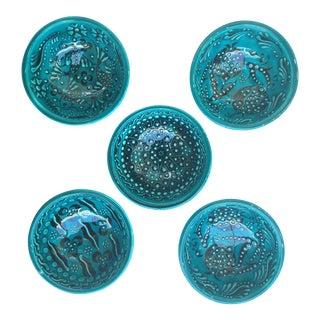 Turquoise Bowls - Set of 5