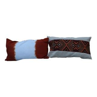 Boho Chic Lumbar Pillows - a Pair