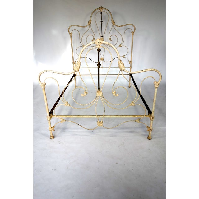 Classic Victorian Wrought Iron Bed - Image 2 of 7