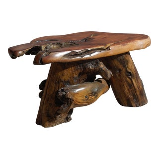 George Buck Redwood Side Table