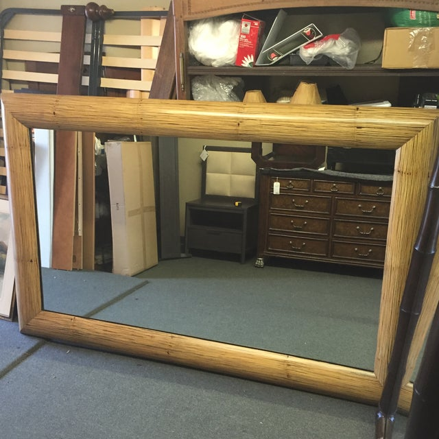 New Crushed Bamboo Floor Mirror - Image 8 of 8