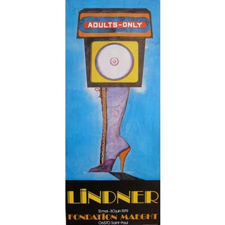 1979 Original Vintage Lindner Adults Only Poster, Fondation Maeght
