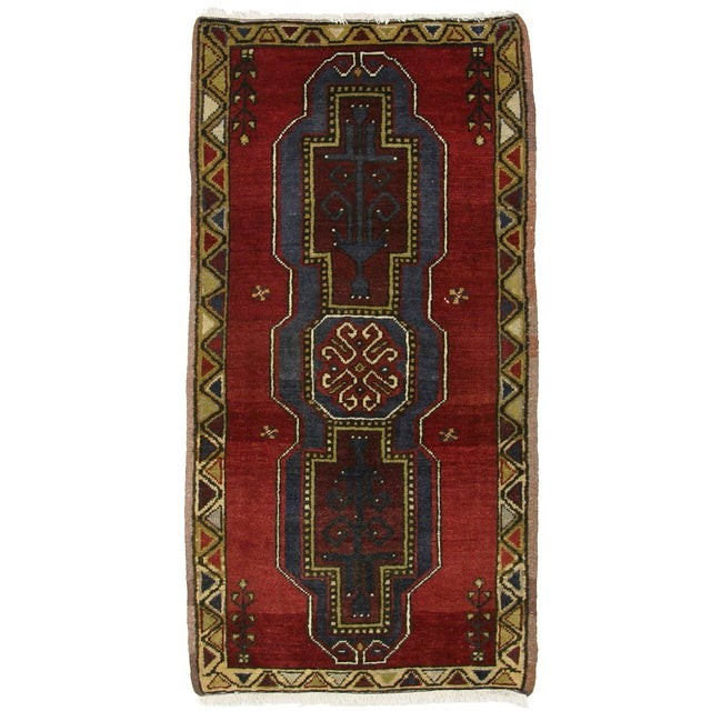 "Vintage Kurdish Carpet - 1'11"" X 3'7"" - Image 1 of 2"