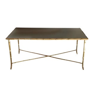 Brass Bagues Style Faux Bamboo Coffee Table