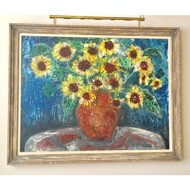 """Large """"Sunflower"""" Painting by Trieste - Image 2 of 6"""