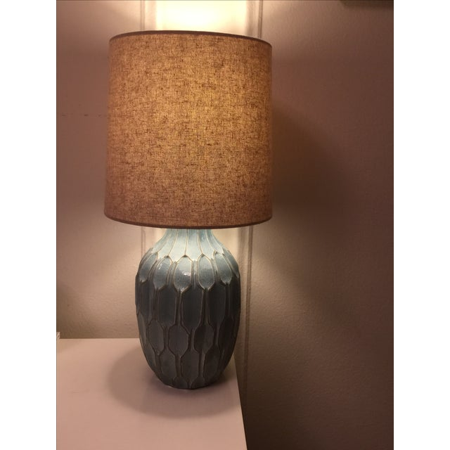 West Elm Handmade Ceramic Lamps - A Pair - Image 4 of 9