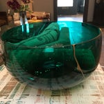 Image of Emerald & Gold Glass Bowl