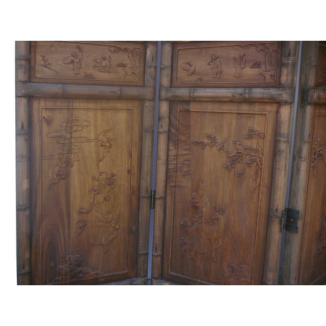 Image of Chinese Oriental Scholars Patterned Panels - S/4
