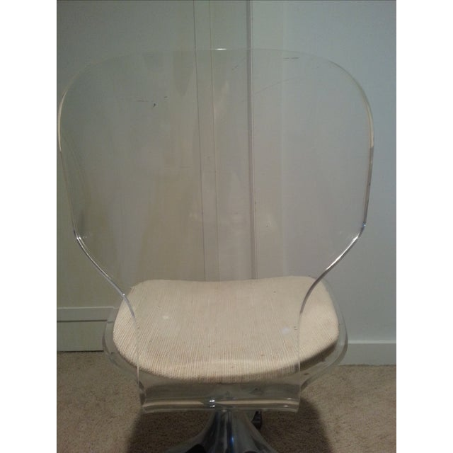 Mid-Century Lucite Desk Chair - Image 5 of 5