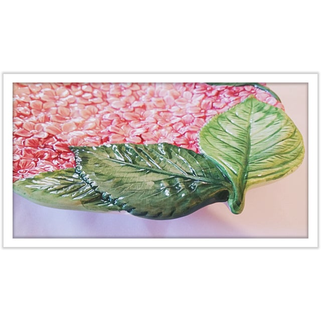 Isabella De Borchgrove Italian Flower Plates - A Pair - Image 3 of 10