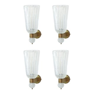 Set of Four Barovier and Toso Wall Lights, Italy