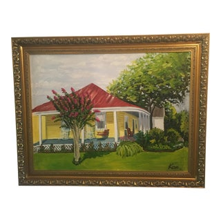 'Little Yellow House' Acrylic Painting