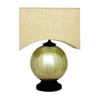 Large Vintage Mid-Century Modern Metallic Mercury Style Glass Iridescent Table Lamp MCM Retro Millennial