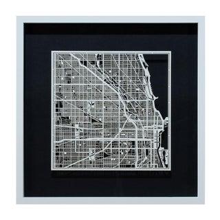 Sarreid Ltd. Chicago Framed & Matted Map