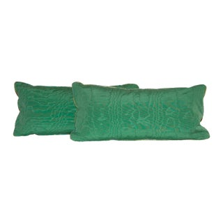 Green Schumacher Pillows - Pair