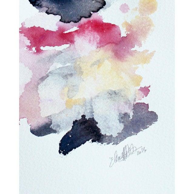 "Ellen Sherman ""Color Study 3"" Watercolor Painting - Image 4 of 4"