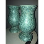 Image of Mosaic Hurricane Lamps in Tiffany Blue