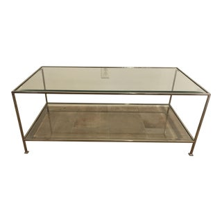 Worlds Away Polished Nickel Coffee Table