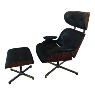 George Mulhauser for Plycraft Lounge Chair & Ottoman