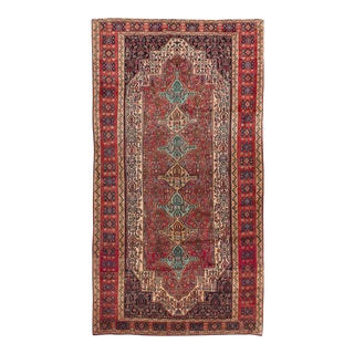 "Senneh Semi-Antique Persian Rug, 4'10"" x 9'2"""