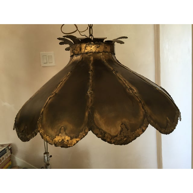 Vintage Brutalist Pendant Light - Image 5 of 5
