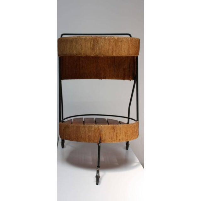 Arthur Umanoff Two-Tier Bar Cart - Image 10 of 10